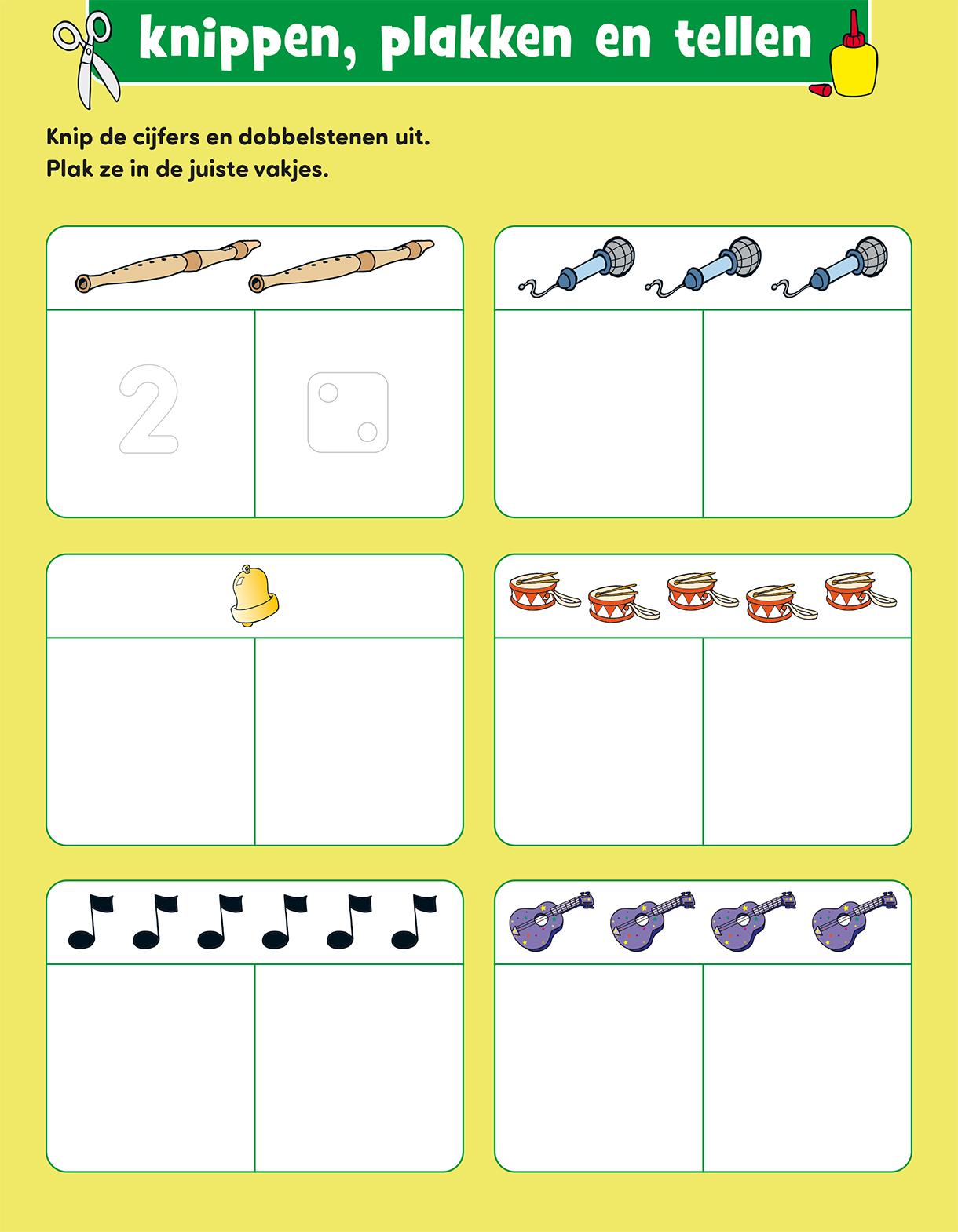 Uitgelezene Werkblad kleuters: leren tellen met Bobo groep 1 en 2 NE-44